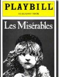 Les Misérables on the cover of Playbill (United States) - March 1987