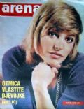 Nathalie Delon on the cover of Arena (Yugoslavia Serbia and Montenegro) - June 1970