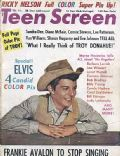 Frankie Avalon on the cover of Teen Screen (United States) - February 1961