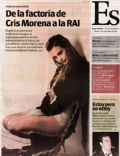 Sabrina Garciarena on the cover of Espectaculos (Argentina) - September 2010