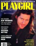 Kip Winger on the cover of Playgirl (United States) - May 1991
