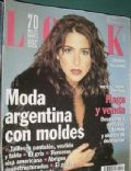 Laura Novoa on the cover of Look (Argentina) - April 1999