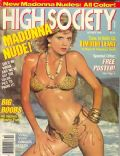 Ginger Lynn Allen on the cover of High Society (United States) - October 1985