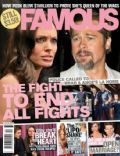 Angelina Jolie, Angelina Jolie and Brad Pitt, Brad Pitt on the cover of Famous (Australia) - June 2010