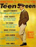 Paul Anka on the cover of Teen Screen (United States) - November 1962