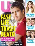 Liam Hemsworth, Miley Cyrus, Paul Walker on the cover of Us Magazine (United States) - December 2013