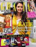 Katie Holmes on the cover of Grazia (United Kingdom) - November 2012
