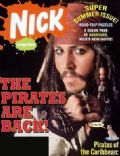 Johnny Depp on the cover of Nickelodeon (United States) - August 2006