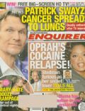 Patrick Swayze on the cover of National Enquirer (United States) - January 2009