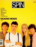 Chris Frantz, David Byrne, Jerry Harrison, Tina Weymouth on the cover of Spin (United States) - June 1985