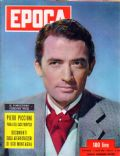 Gregory Peck on the cover of Epoca (Italy) - April 1954