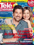 Ellen Pompeo, Patrick Dempsey on the cover of Tele 2 Semaines (France) - January 2011