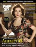 Anna Friel on the cover of Page Six (United States) - October 2008