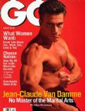 Jean-Claude Van Damme on the cover of Gq (United States) - August 1995