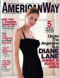 Diane Lane on the cover of American Way (United States) - September 2003
