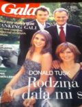 Donald Tusk, Katarzyna Tusk on the cover of Gala (Poland) - October 2005