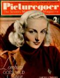 Carole Lombard on the cover of Picturegoer (United Kingdom) - December 1937