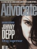 Johnny Depp on the cover of The Advocate (United States) - November 1994
