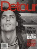 Johnny Depp on the cover of Detour (United States) - January 2000