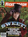 Johnny Depp on the cover of Nickelodeon (United States) - August 2005
