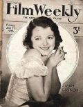 Janet Gaynor on the cover of Film Weekly (United Kingdom) - January 1933