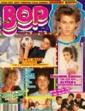Johnny Depp on the cover of Bop (United States) - April 1989
