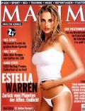 Estella Warren on the cover of Maxim (Germany) - March 2002