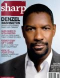 Denzel Washington on the cover of Sharp (Canada) - June 2009