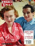 Izolda Izvitskaya, Michel Renault on the cover of France Urss (France) - June 1957