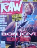 Jon Bon Jovi on the cover of Raw (United Kingdom) - April 1993