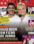 Alexandre Pato, Junno Andrade, Michel Teló, Xuxa Meneghel on the cover of Conta Mais (Brazil) - July 2013