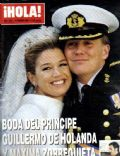 King Willem-Alexander, Princess Máxima of the Netherlands on the cover of Hola (Spain) - February 2002