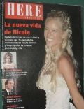 Nicole Neumann on the cover of Here (Argentina) - March 2005