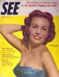 Jeanne Crain on the cover of See (United States) - November 1955