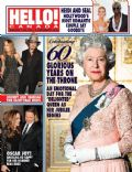 Angelina Jolie, Brad Pitt, Heidi Klum, Johnny Depp, Queen Elizabeth II, Seal, Vanessa Paradis on the cover of Hello (Canada) - February 2012