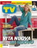 Alessia Marcuzzi on the cover of TV Sorrisi E Canzoni (Italy) - October 2011