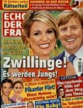 King Willem-Alexander, Princess Máxima of the Netherlands on the cover of Echo Der Frau (Germany) - June 2014