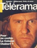 Gérard Depardieu on the cover of Telerama (France) - September 1994