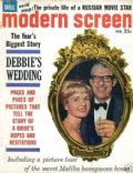 Debbie Reynolds on the cover of Modern Screen (United States) - February 1961