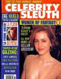 Gillian Anderson on the cover of Celebrity Sleuth (United States) - July 1998