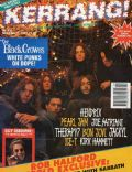 Chris Robinson, Eddie Harsch, Johnny Colt, Marc Ford, Rich Robinson, Steve Gorman on the cover of Kerrang (United Kingdom) - November 1992