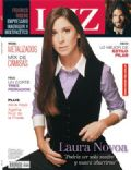 Laura Novoa on the cover of Luz (Argentina) - March 2008