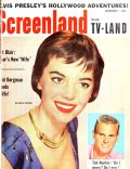 Natalie Wood on the cover of Screenland (United States) - January 1957