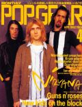 David Grohl, Krist Novoselic, Kurt Cobain on the cover of Pop Gear (Japan) - April 1992