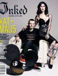 Deadmau5, Katherine von Drachenberg, Katherine von Drachenberg and Deadmau5 on the cover of Inked (United States) - December 2012