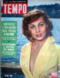 Helene Remy on the cover of Tempo (Italy) - September 1957