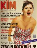 Nil?fer Yumlu on the cover of Kim (Turkey) - April 1997