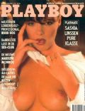 Saskia Linssen on the cover of Playboy (Netherlands) - August 1990