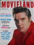 Elvis Presley on the cover of Movieland (United States) - February 1957