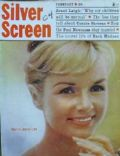 Debbie Reynolds on the cover of Silver Screen (United States) - February 1961